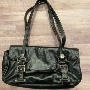 Franco Sarto black leather shoulder bag
